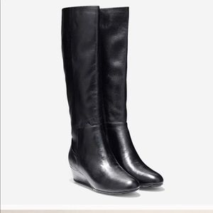 Cole Haan Tali Grand Tall Wedge Leather Boots